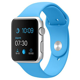 Apple Watch Sport 42mm Silver Aluminum Case with Sport Band (Blue) Phones