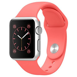 Apple Watch Sport 42mm Silver Aluminum Case with Sport Band (Pink) Phones