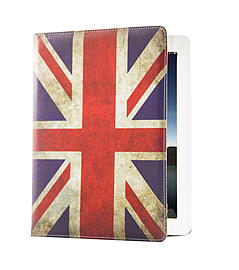 Design Book PU Leather Wallet Case For Sony Xperia Z4 Tablet - Union Jack Tablet