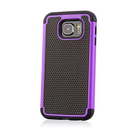 Dual Layer Shockproof Case For Samsung Galaxy Note 5 Edge - Purple Mobile phones