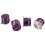 ZedLabz aluminum metal action bullet button set for Sony PS4 controllers - Purple screen shot 1