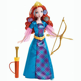 Disney Princess Colourful Curls Merida Doll Figurines and Sets