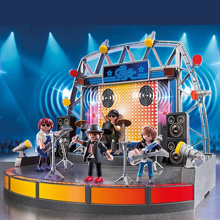 en playmobil city life pop star stage band
