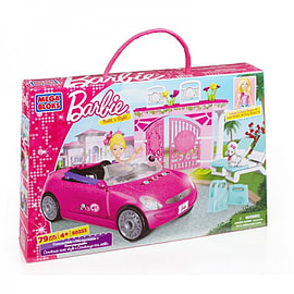 Barbie Mega Bloks Build n Style Convertible Car Playset Blocks and Bricks