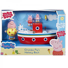 Peppa Pig Holiday Grandpa Pigs Boat Figurines and Sets