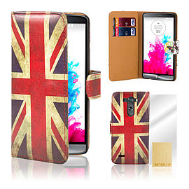 Design Book PU Leather Wallet Case For LG G4 Mini - Union Jack Mobile phones