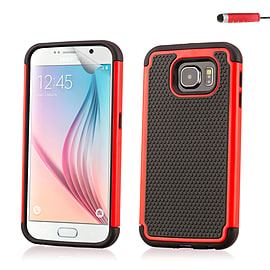Dual Layer Shockproof Case For Samsung Galaxy Note 5 - Red Mobile phones