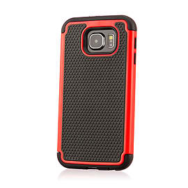 Dual Layer Shockproof Case For Samsung Galaxy Note 5 Edge - Red Mobile phones