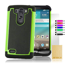 Dual Layer Shockproof Case For LG G4 Mini - Green Mobile phones