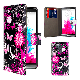 Design Book PU Leather Wallet Case For LG G4 Stylus - Gerbera Mobile phones