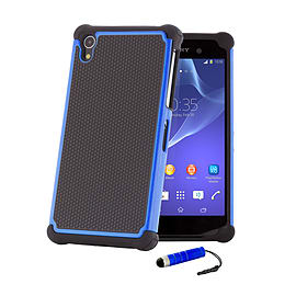 Dual Layer Shockproof Case For Sony Xperia Z1F Compact - Deep Blue Mobile phones