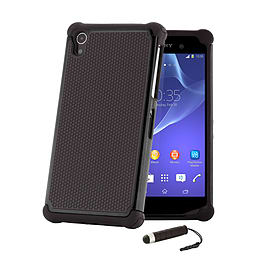 Dual Layer Shockproof Case For Sony Xperia Z1F Compact - Black Mobile phones