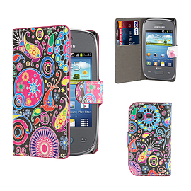 Design Book PU Leather Wallet Case For Samsung Galaxy Pocket 2 - Jellyfish Mobile phones