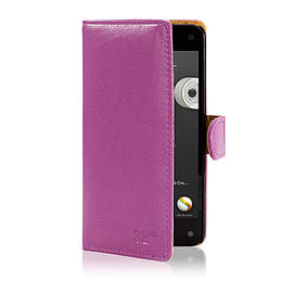 Book PU Leather Wallet Case For Alcatel Pop D1 - Purple Mobile phones