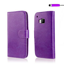 Book PU Leather Wallet Case For HTC One M9+ - Purple Mobile phones
