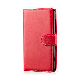 Book PU Leather Wallet Case For Samsung Galaxy S6 Active - Red Mobile phones