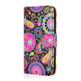 Design Book PU Leather Wallet Case For Samsung Galaxy S6 Active - Jellyfish Mobile phones
