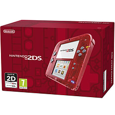 Nintendo 2DS Transparent Red 3DS