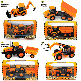 JCB Construction Series - Complete Set Of Four Figurines and Sets