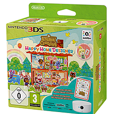 Animal Crossing: Happy Home Designer with Special amiibo Card and Nintendo NFC Reader-Writer 3DS