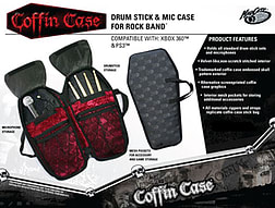 Rock Band Coffin Case Branded Drum and Stick Bag PS3
