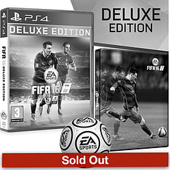 FIFA 16 Deluxe Edition With Only At GAME Preorder Pack PlayStation 4