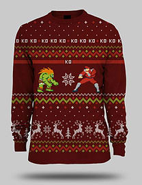 Street Fighter Blanka Vs Bison Christmas Jumper - Large - Only at GAME Large