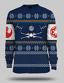 Star Wars Battle Of Yavin Christmas Jumper - Large Large