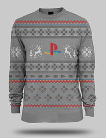 PlayStation One Christmas Jumper - Large Large