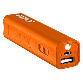 Bitmore Juucee 2600 mAh Ultra-Compact Portable Battery Backup Charger with LED Torch - Orange Multi Format and Universal