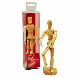 Reeves 8 Inch Manikin Unvarnished Traditional Games