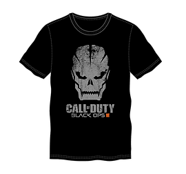 Call of Duty: Black Ops 3 - Grunge Skull Logo Men's T-shirt - Black Medium Clothing