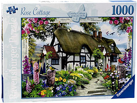 Country Cottage Collection - Rose Cottage (1000 Pieces) Traditional Games