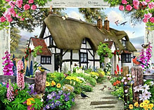 Country Cottage Collection - Rose Cottage (1000 Pieces) screen shot 1