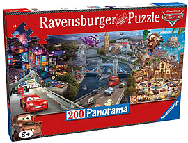 Disney Cars Panoramic Puzzle (200 Piece) Traditional Games
