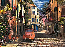 Heart of Southern France Puzzle (500 Pieces) screen shot 1