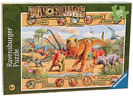 Dinosaurs XXL Jijgsaw Puzzle (100 Pieces) Traditional Games