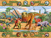 Dinosaurs XXL Jijgsaw Puzzle (100 Pieces) screen shot 1