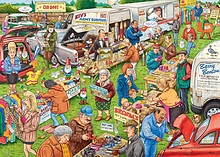 Best Of British The Car Boot Sale Puzzle (1000 Pieces) screen shot 1
