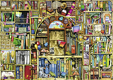 Colin Thompson The Bizarre Bookshop 2 (1000 Pieces) screen shot 1