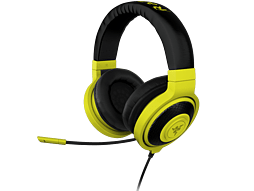Razer Kraken Pro Neon Analog Gaming Headset - Yellow, Headband, Sound Isolation PC