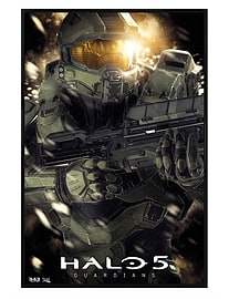 Halo 5 Gloss Black Framed Master Chief Maxi Poster 61x91.5cm Posters