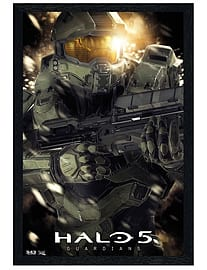 Halo 5 Black Wooden Framed Master Chief Maxi Poster 61x91.5cm Posters