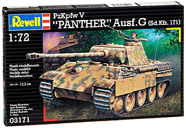 PzKpfw V Panther Ausf.G 1:72 Scale Model Kit Scaled Models