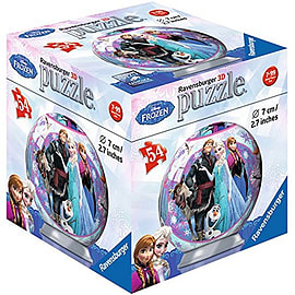 Disney 3D Frozen 54 Piece Puzzle Ball - Elsa, Anna and Kristoff Traditional Games
