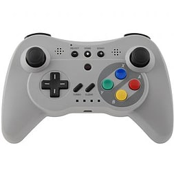 Grey Classic Pro Wireless Bluetooth Gamepad for Nintendo Wii U Wii U