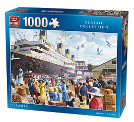 King Titanic Jigsaw Puzzle (1000 Pieces) Traditional Games