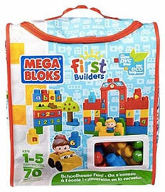 Mega Bloks First Builders School House Learning Blocks and Bricks