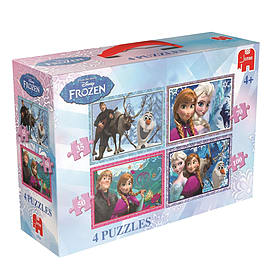 Disney Frozen 4-in-1 Jigsaw Puzzle Traditional Games