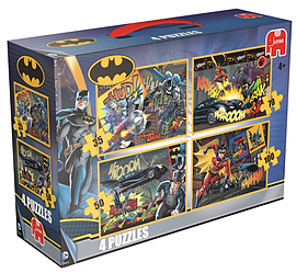 Batman 4in1 Standard Suitcase Puzzles Traditional Games